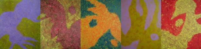 Chromotopie, quintette, 色境五重奏, 2014, 100 X 405 cm