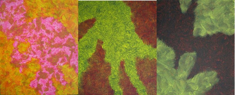 Chromotopie, Trio de Hong Kong, 2011-2014, 73 X 180 cm