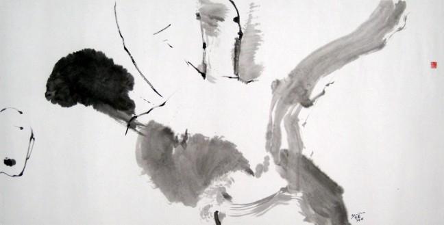 Grande main, petite tete 大手.小首, 2008, 68 X 139 cm