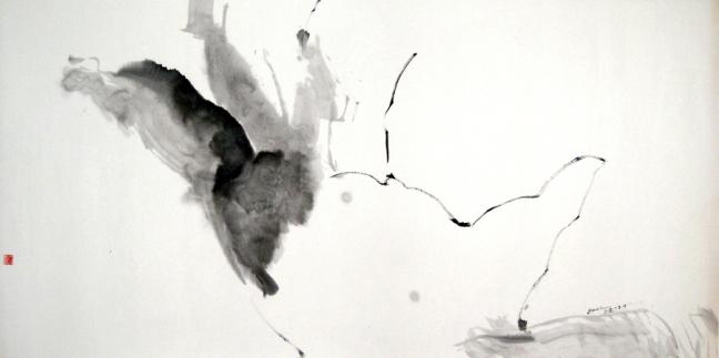 Main rayonnante 灵光闪现的手, 2008, 68 X 139 cm