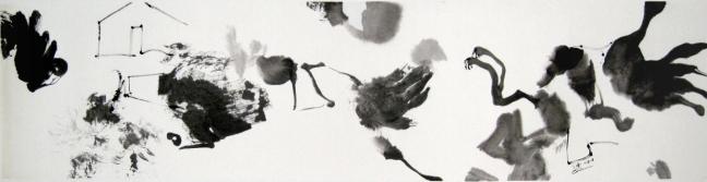 Melopee 幽深的曲子, 2008, 34 X 138 cm
