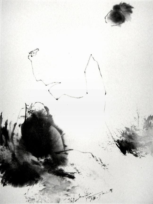 Pensif, 2008, 45 X 33 cm