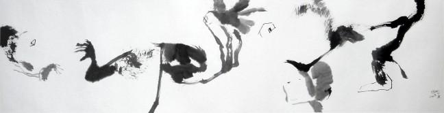 Prelude a fugue, 2008, 34 X 138 cm