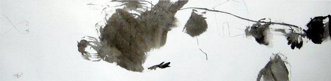 Sur le fil, 2008, 34 X 138 cm