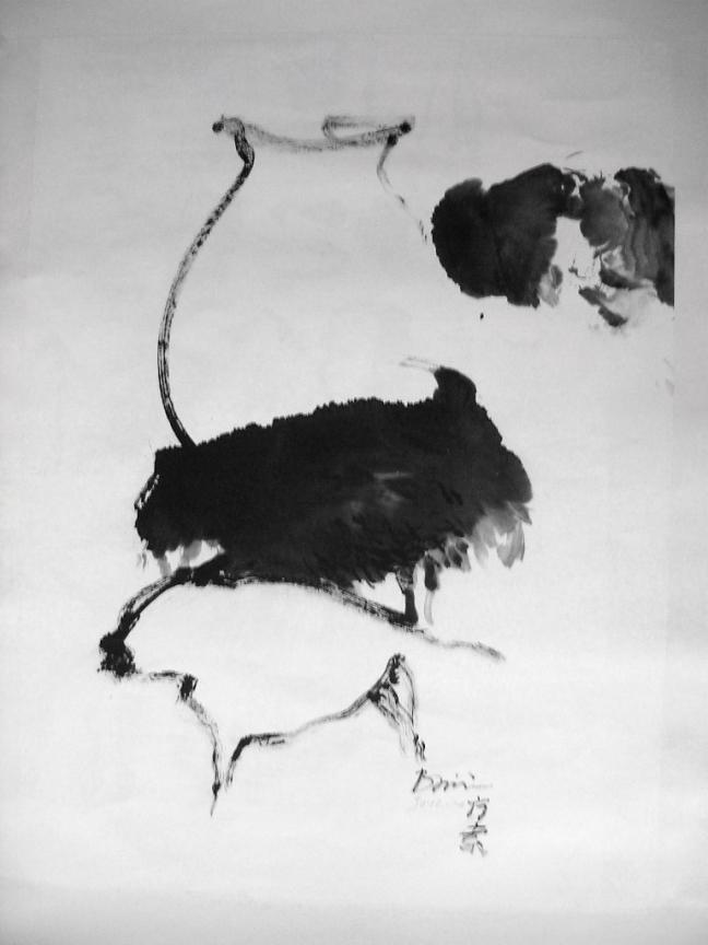 Figure 18 坛子和牛群 2004, 88 x 66 cm