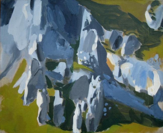 Figure 5 四幽灵,1994, 60 X 73 cm