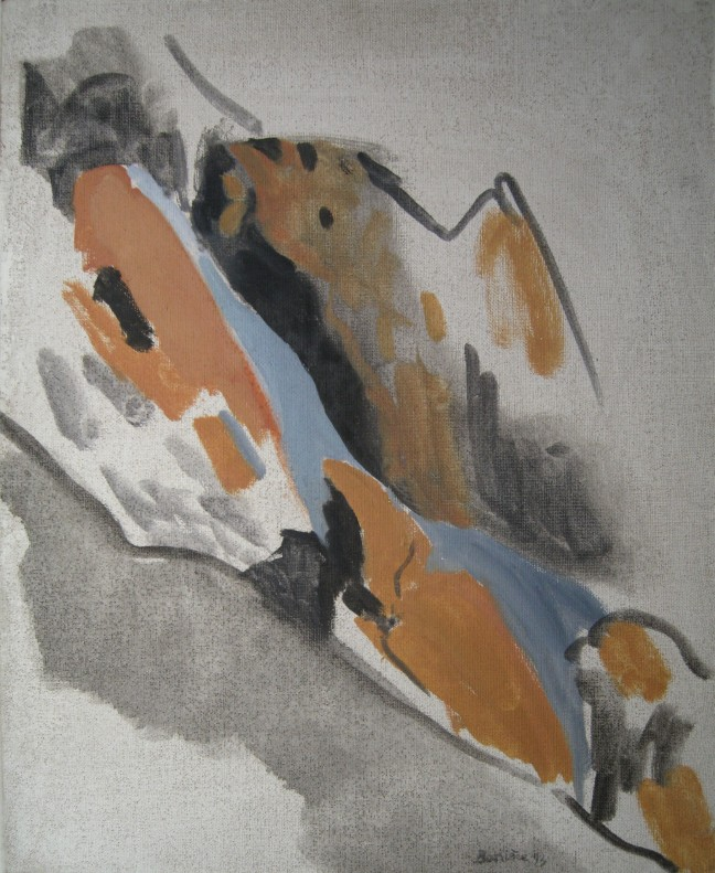 Figure 6 阿尔卑斯山Ubaye, 1993, 46 X 38 cm