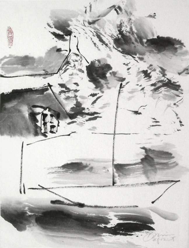 Figure 26 天窗与帆船,2006,45×33cm
