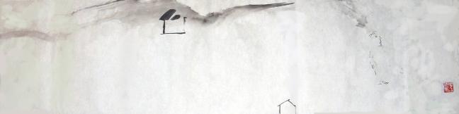 Figure 27 流动 2006,34 X 138 cm