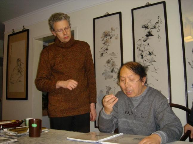 Figure 31 在画家李世南北京家中,2004年1月