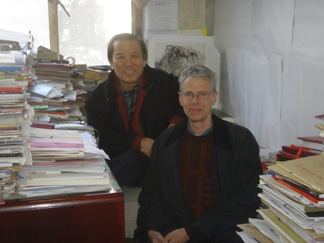 Figure 36 Dans l_atelier de Cheng Dali, Pékin, 2007